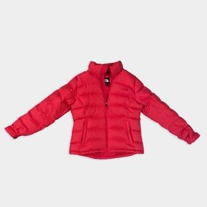 Women's North Face Red Puffer Jacket